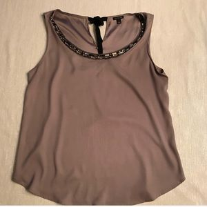 Silky jeweled Ann Taylor top